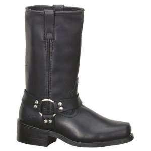 Mens Black Leather Harness Motorcycle Biker Boots. 1442 Automotive