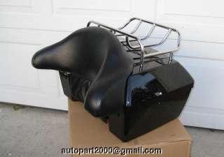 PACK ELECTRA GLIDE ROAD KING HARLEY black motorcycle top rack