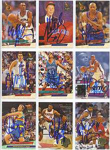 SHAWN BRADLEY RARE AUTO SIGNED CARD PHILADELPHIA 76ERS SIXERS 94 FLEER