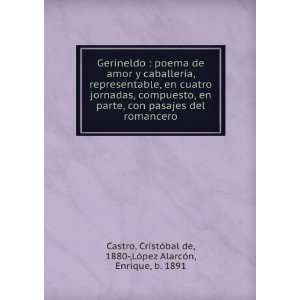 Gerineldo : poema de amor y caballería, representable