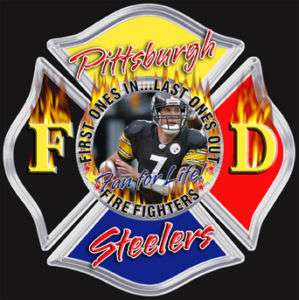 Pittsburgh Steelers FireFighter sticker, Decal IAFF