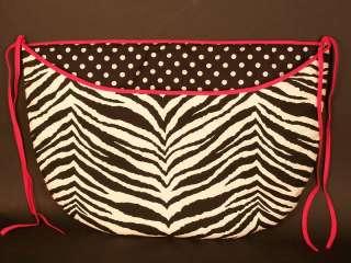 Nursery Baby Room Toy bag ~Zebra hot pink~