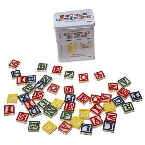 Magnetic Refrigerator Alphabet Blocks: Toys & Games